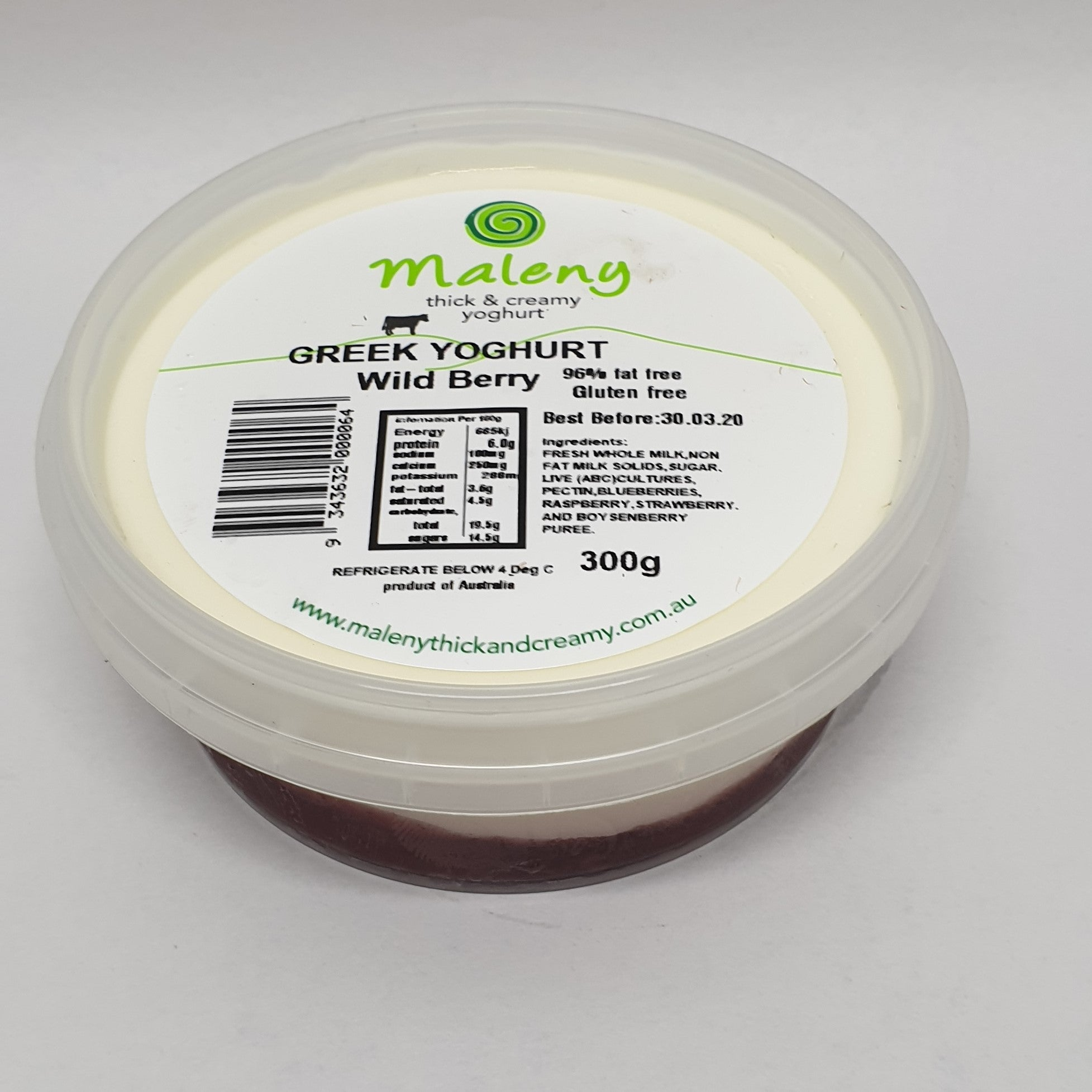 Maleny Yoghurt 300gr Wildberry