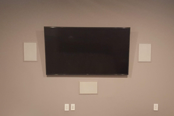 A/V Surround Sound Mounting TV