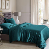 King Duvet Cover Set - Teal Silk