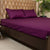 Fitted Bed Sheet - Cotton Satin Purple