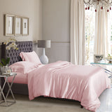 King Duvet Cover Set - Light Pink Silk