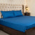 Fitted Bed Sheet - Cotton Satin Blue