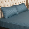 Fitted Bed Sheet - Cotton Satin Grey