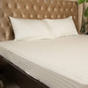 Fitted Bed Sheet - Cotton Satin Off White