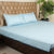 Fitted Bed Sheet - Cotton Satin Water Blue