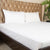 Fitted Bed Sheet - Cotton Satin White