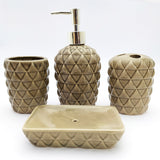 Ceramic Bath Set 4 Piece, Code (BTS-369)