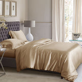 King Duvet Cover Set - Cappuccino Silk