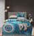6 PC's Cotton Satin Duvet Cover Set - Tiger
