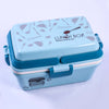 Triple Play Pink Sky Blue Color Lunch Box