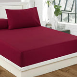 Fitted Bed Sheet - Mehroon