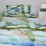 Cotton Satin Bed Sheet - Greenry
