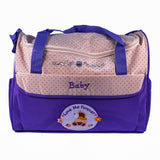 Baby Bag Dotted 4 Piece (Purple)