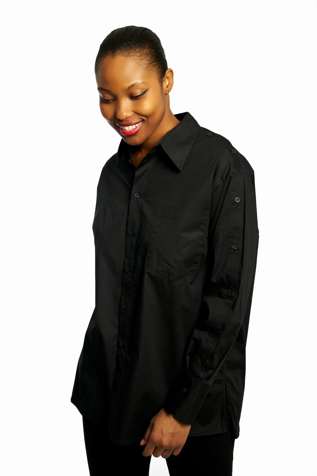 Side Button Sleeve Shirt