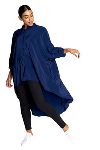 High-Low Three Quarter Sleeve Tunic