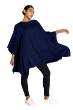 Load image into Gallery viewer, Navy Knit Poncho