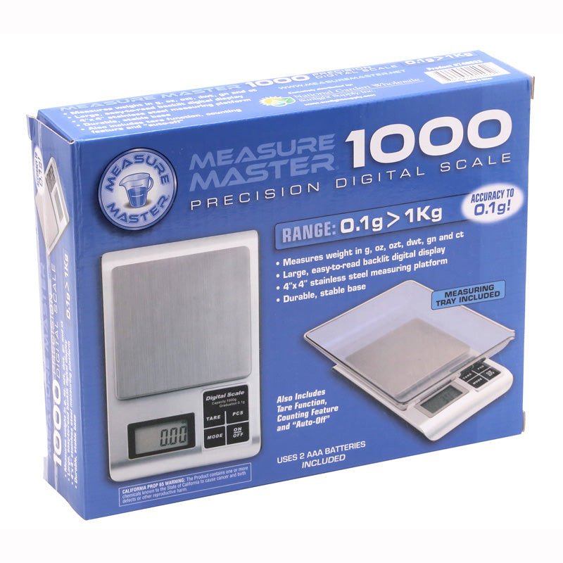 db7d223618d3 Measure Master 1000g Digital Scale w/ Tray - 1000g Capacity x 0.1g Accuracy
