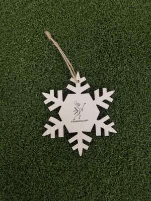 Load image into Gallery viewer, Wood Ornament Snowflake