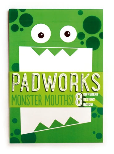 PADWORKS NOTEPAD - MONSTER MOUTHS