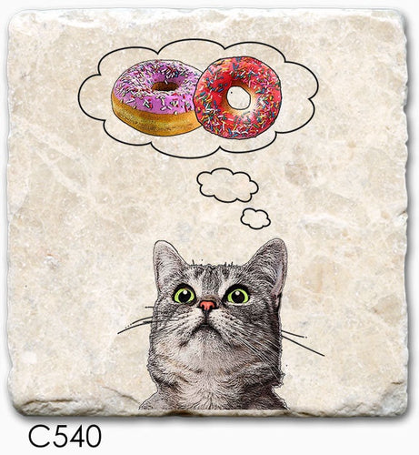 Cat with Donut Coaster