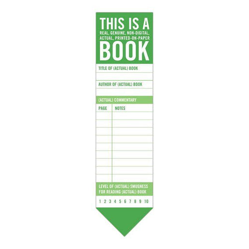 Bookmark Pad: This is a Book
