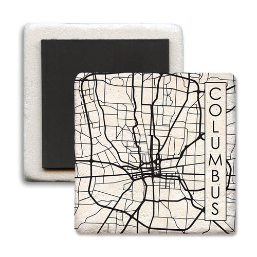 Columbus OH city map Magnet