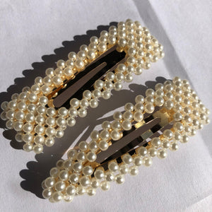 """Pearl"" Rectangle Hair Clip"
