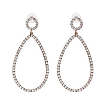 "Load image into Gallery viewer, ""Studded Loop"" Silver Earrings"