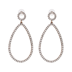 """Studded Loop"" Silver Earrings"