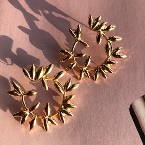 """Leaf"" Gold Earrings"