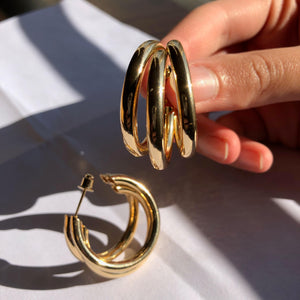 """Multiple Hoops"" Gold Earrings"
