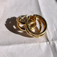 "Load image into Gallery viewer, ""Multiple Hoops"" Gold Earrings"