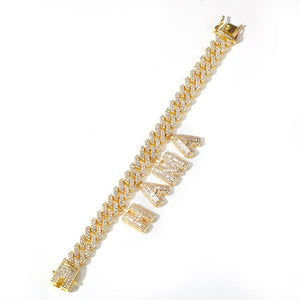 CUSTOM NAME Necklace |Blinged Cuban Link