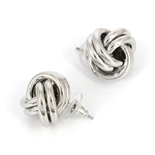 "Load image into Gallery viewer, ""Knot"" Silver Earrings"