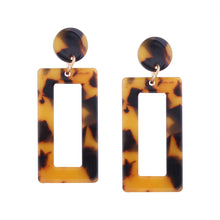 "Load image into Gallery viewer, ""Geometric Tortoise Shell"" Brown Acrylic Earrings"