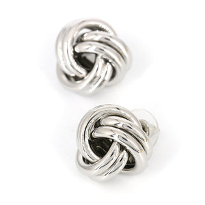 """Knot"" Silver Earrings"