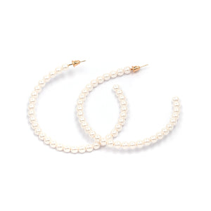 """Pearl Hoop"" Earrings"