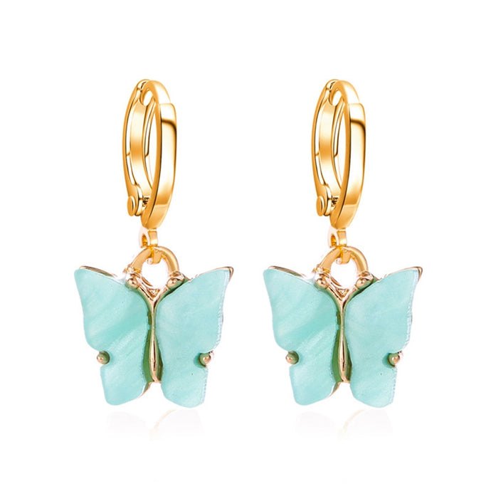 BLUE Acrylic Butterfly Earrings