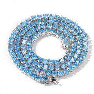 BLUE Tennis Necklace |4MM (PRE-ORDER)