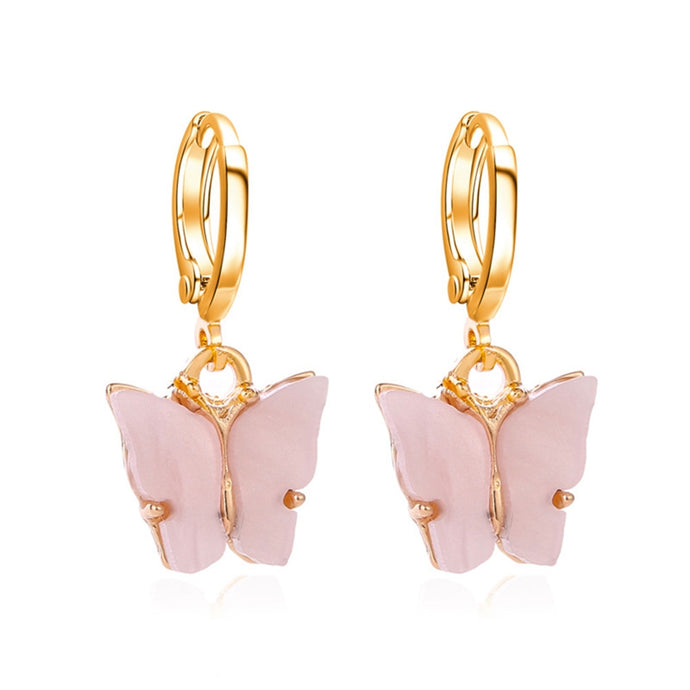 BLUSH Acrylic Butterfly Earrings