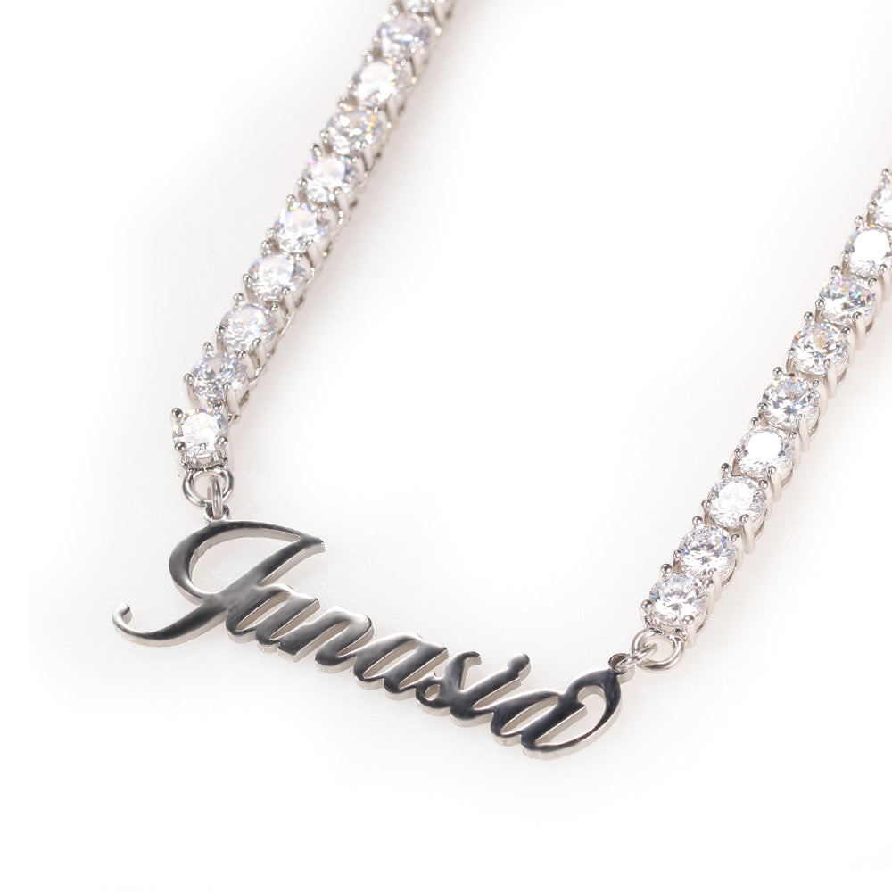 CUSTOM NAME Necklace |Tennis