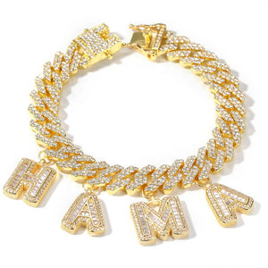 CUSTOM NAME Bracelet|Blinged Cuban Link