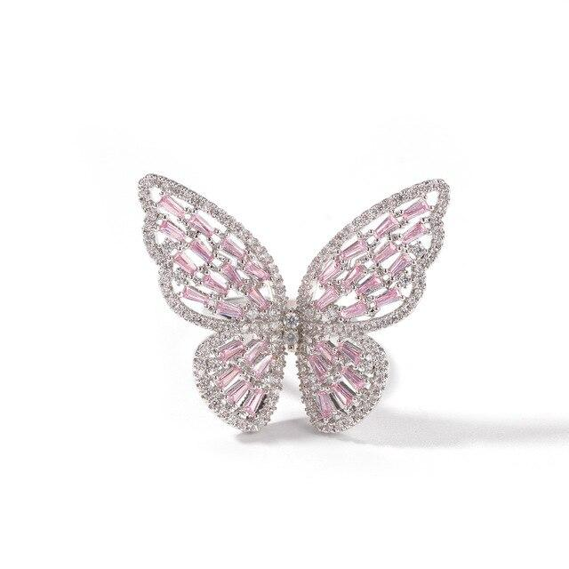 BUTTERFLY Pink Adjustable Ring