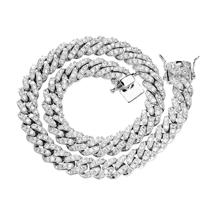 SILVER Cuban Link Necklace |12MM