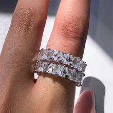 Load image into Gallery viewer, PRINCESS Silver Band Ring