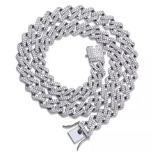 Load image into Gallery viewer, SILVER JAGGED Cuban Link Necklace |20MM
