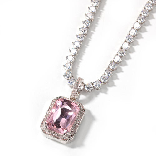 GEM Necklace |Pink & Silver (PRE-ORDER)