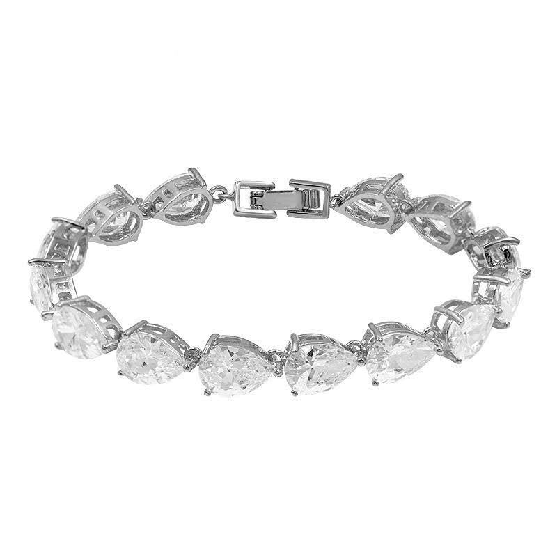 WATER-DROP CUT Tennis Bracelet