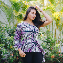 Load image into Gallery viewer, PAISLEY PEPLUM TOP