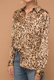 Satin Leopard Top